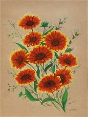 Sale 8686 - Lot 2043 - Joan Kerr (1938 - 2004) - Daisies, watercolour, 37 x 27cm, signed lower right -