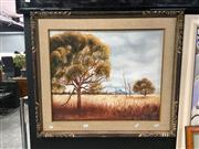 Sale 8753 - Lot 2093 - 3 Artworks: John Mailler - Landscapes; 2 x Artist Unknown - Nude & Landscape