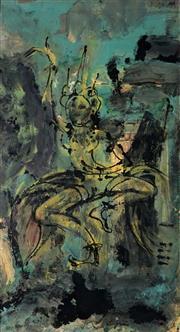 Sale 9021 - Lot 594 - Helen Lempriere (1907 - 1991) - Ghost of a Dancer, 1969 75 x 41 cm (frame: 78 x 43 x 3 cm)