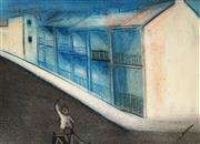 Sale 9013 - Lot 522 - Robert Dickerson (1924 - 2015) - Residential Street Scene, Sydney 26.5 x 37 cm (frame: 37 x 47 x 3 cm)