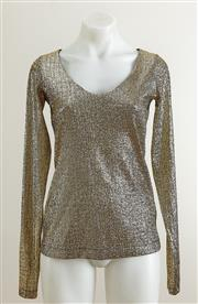 Sale 9081H - Lot 81 - A Willow gold long sleeve top size M