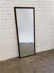 Sale 9080 - Lot 1050 - Timber framed mirror (h:177 x w:68cm)