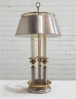 Sale 9129 - Lot 1066 - Metal column form table lamp (h:67cm)