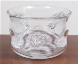 Sale 9140H - Lot 37 - A large Orrefors cut crystal trifle bowl, Diameter 24cm