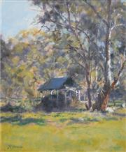 Sale 8323A - Lot 37 - Reginald George Rowe (1916 - 2010) - The Woodshed 29 x 24cm