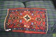 Sale 8390 - Lot 1418 - Small Persian Door Mat (65 x 45cm)