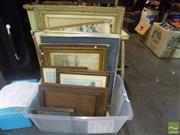 Sale 8483 - Lot 2094 - Box of Artworks incl 3 Original Watercolours, signed