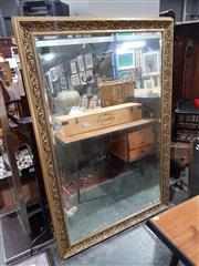 Sale 8826 - Lot 1068 - Large Gilt Framed Bevelled Edge Mirror (H: 112 W: 168cm)