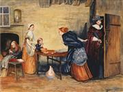 Sale 8938A - Lot 5060 - William Payne - Confrontation, 1919 43 x 57 cm (frame: 67.5 x 77 x 4 cm)