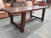 Sale 8934 - Lot 1075 - Rustic Farmhouse Style Dining Table on Stretcher Base