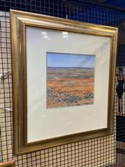 Sale 8936 - Lot 2045 - Neroli Weaver (1963 - ) Desert Landscape oil on board, 30 x 30cm, signed -