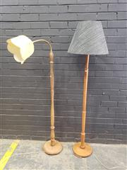 Sale 9034 - Lot 1099 - Vintage Floor Lamp x2 (h:152cm)