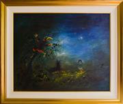 Sale 9080J - Lot 5 - David Boyd - Children Playing 79x98cm