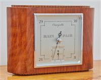 Sale 9090H - Lot 18 - A Smiths Deco Barometer, Height 18.5cm x Width 27cm