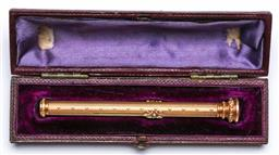Sale 9153 - Lot 16 - A 9k gold Mordan & co retractable pen