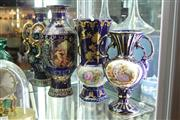 Sale 8322 - Lot 75 - European Scene Vases (3)