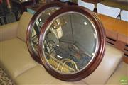 Sale 8390 - Lot 1169 - Pair of Round Timber Framed Mirrors