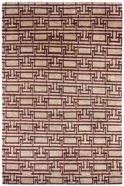 Sale 8563A - Lot 35 - The Florence Broadhurst Collection Design; Yvans Geometric Made in; Nepal Colour; Plum Made from; Tibetan Wool, Chinese Silk...