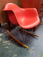 Sale 8585 - Lot 1097 - Red Eames Rocking Chair by Vitra