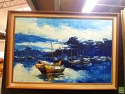 Sale 8631 - Lot 2029 - Artist Unknown - Maritime Scene 495. x 75cm