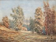 Sale 8678 - Lot 2002 - Charles Ephraim Smith Tindall (1863 - 1951) - Autumns Glow in the Woods 23.5 x 33.5cm