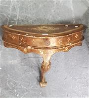 Sale 8676 - Lot 1042 - Small Gilt French Wall Console