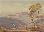 Sale 8929 - Lot 503 - Robert Lovett (1930 - ) - Lake Eucumbene, Snowy Mountains, 1962 43 x 59 cm