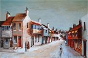 Sale 8938 - Lot 522 - Ric Elliot (1933 - 1995) - Woolloomooloo Terraces 60.5 x 91 cm
