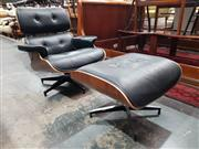 Sale 8934 - Lot 1020 - Reproduction Eames Style Chair & Foot Stool (2)