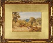 Sale 9053 - Lot 2084 - John Henry Mole (1814 - 1886) (2 works) - English Country Scenes, 1885 16 x 26 cm, each (frame: 37 x 45 x 3 cm, each)