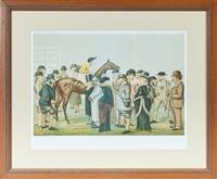 Sale 9090H - Lot 9 - A Framed Vanity Fair Winter number, Newmarket, Frame size 60cm x 73cm