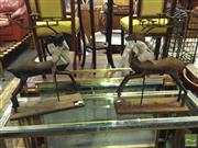 Sale 8412 - Lot 1094 - Pair of Metal Reindeer Form Candelabras