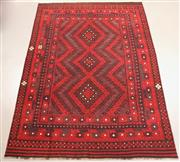 Sale 8438K - Lot 23 - Fine Kyber Afghan Kilim Rug | 416x290cm, Pure Wool, Finely handwoven in Northern Afghanistan using high quality local wool. Rich and...