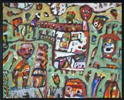 Sale 8449A - Lot 518 - Peter Ferguson (1956 - ) - Evening in the Park 61.5 x 76cm