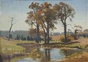 Sale 8538 - Lot 587 - Albert Sherman (1882 - 1971) - Countryscape and Waterhole 21 x 31cm