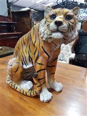 Sale 8676 - Lot 1037 - Composite Form Seated Tiger Figure