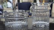 Sale 8709 - Lot 1066 - Two urn form crystal faceted glasses