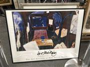 Sale 8726 - Lot 2076 - 2 Framed Brett Whiteley Prints: Screen at the Bathroom Window & Henris Armchair