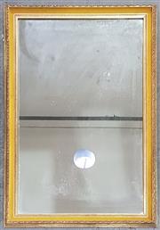 Sale 8971 - Lot 1027 - A Gilt Framed Rectangular Mirror, with yellow velvet slip (116 x 76cm)