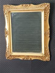 Sale 9026 - Lot 1046 - Small Gilt Mirror (h:68 x w:55cm)