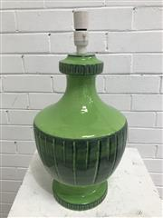Sale 9092 - Lot 1068 - Vintage green glazed ceramic table lamp (h:52cm)