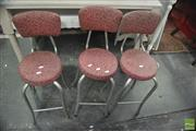 Sale 8390 - Lot 1477 - Set of 3 Retro Barstools