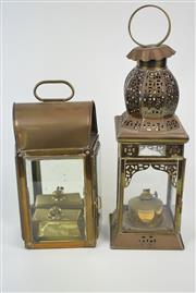 Sale 8384 - Lot 43 - Pierced Storm Lantern with a Mirrored Back Example