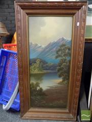 Sale 8407T - Lot 2049 - James Hutchings (1872 - 1962) - New Zealand Alpines 85 x 35.5cm