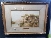 Sale 8544 - Lot 2019 - R. Thornton, In the Teme Valley, Watercolour, SLL, 26.5x44xm