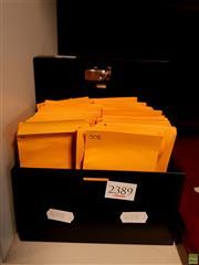 Sale 8582 - Lot 2389 - Cash Tin of Australian Pre Decimal Stamps