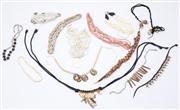 Sale 8640F - Lot 45 - A quantity of necklaces to include single and multi strand beaded examples, cowrie shell pieces and others, the longest L 120cm