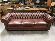 Sale 8699A - Lot 718 - Moran Three Seater Chesterfield Lounge, length 230cm