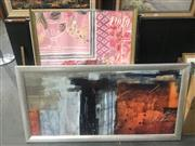 Sale 8751 - Lot 2069 - Group of 4 decorative Prints including 2 original screenprints by an unknown artist