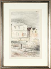 Sale 8781A - Lot 5009 - John Santry (1910 - 1990) - The Old House 48 x 29.5cm